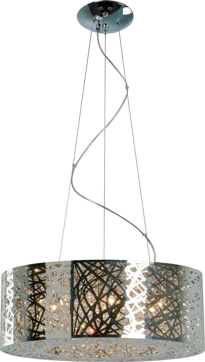 "Inca 23.5"" 9-Light Multi-Light Pendant - Polished Chrome"