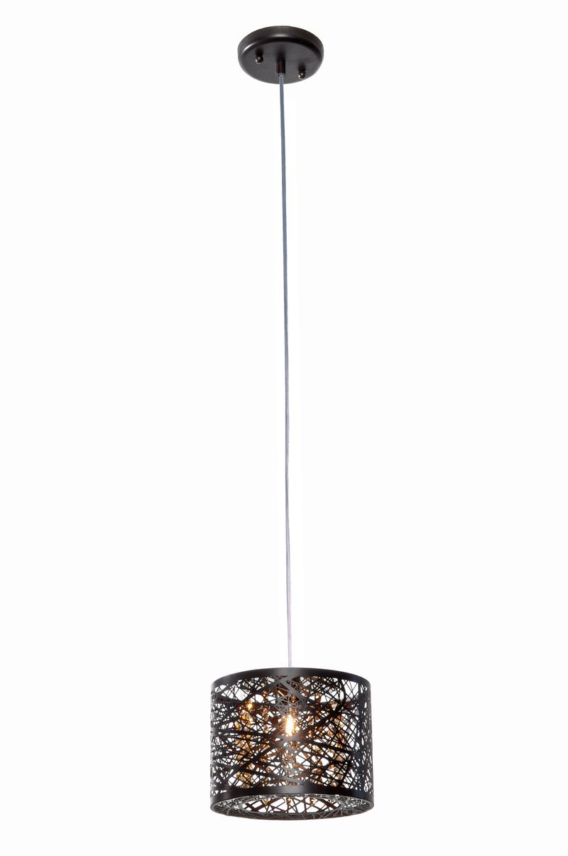 "Inca 7.75"" 1-Light Mini-Pendant - Bronze"