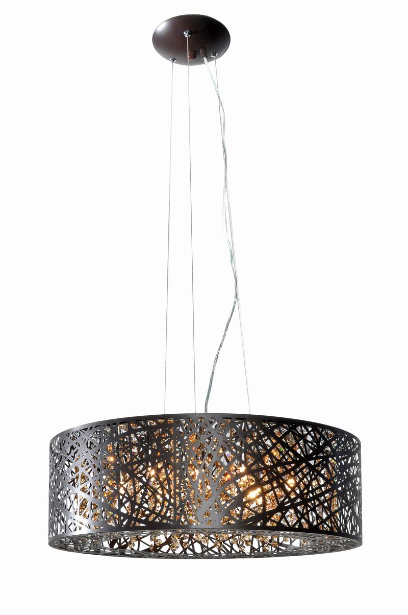 "Inca 23.5"" 9-Light Multi-Light Pendant - Bronze"