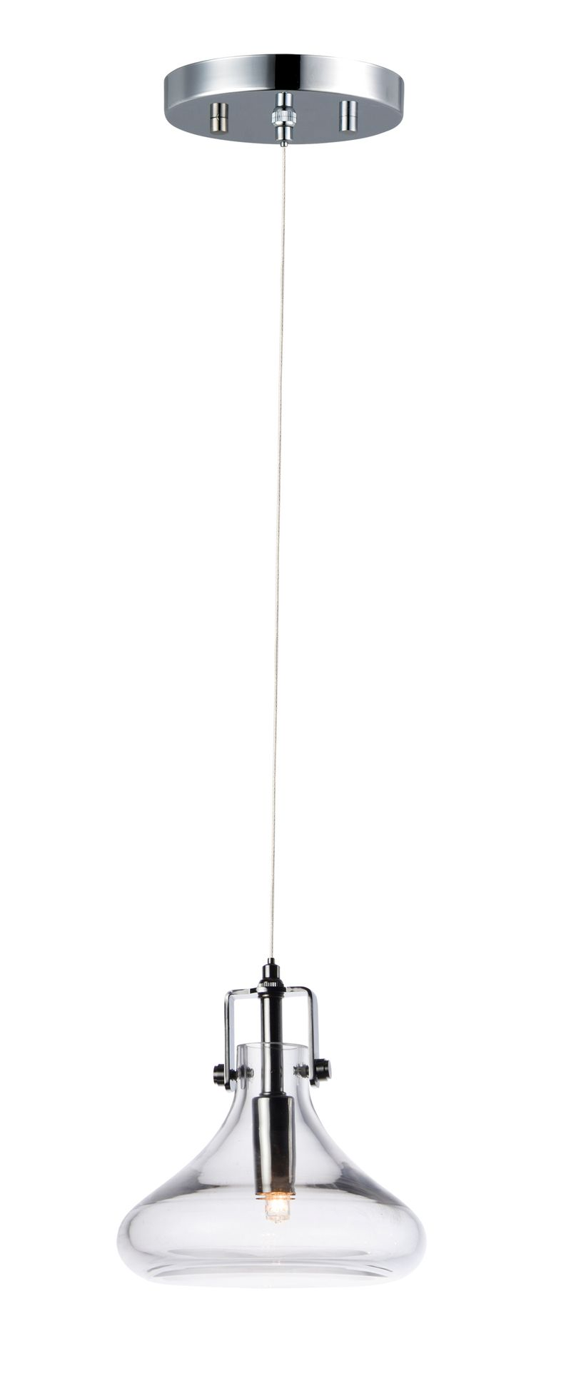 "Kem 6.25"" 1-Light Single Pendant - Polished Chrome"