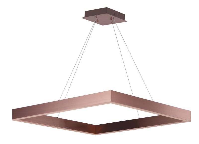 "Metallika 32.25"" 1-Light Single Pendant - Satin Copper"