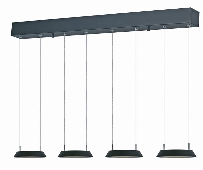 "Quantum 30"" 4-Light Multi-Light Pendant - Black"