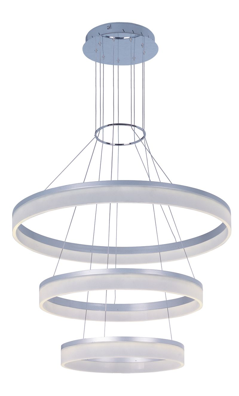 "Saturn 31.75"" 3-Light Multi-Light Pendant - Matte Silver"