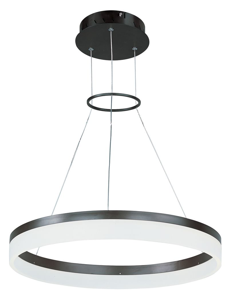 "Saturn 23.75"" 1-Light Single Pendant - Bronze"