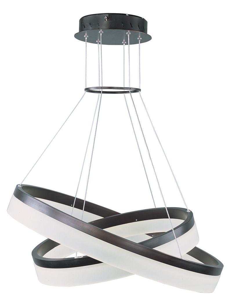 "Saturn 23.75"" 2-Light Multi-Light Pendant - Bronze"