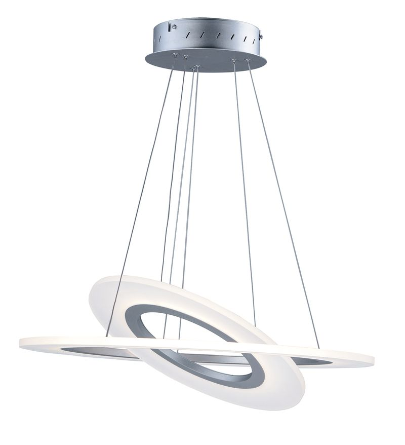 "Saturn II 23.75"" 2-Light Multi-Light Pendant - Matte Silver"