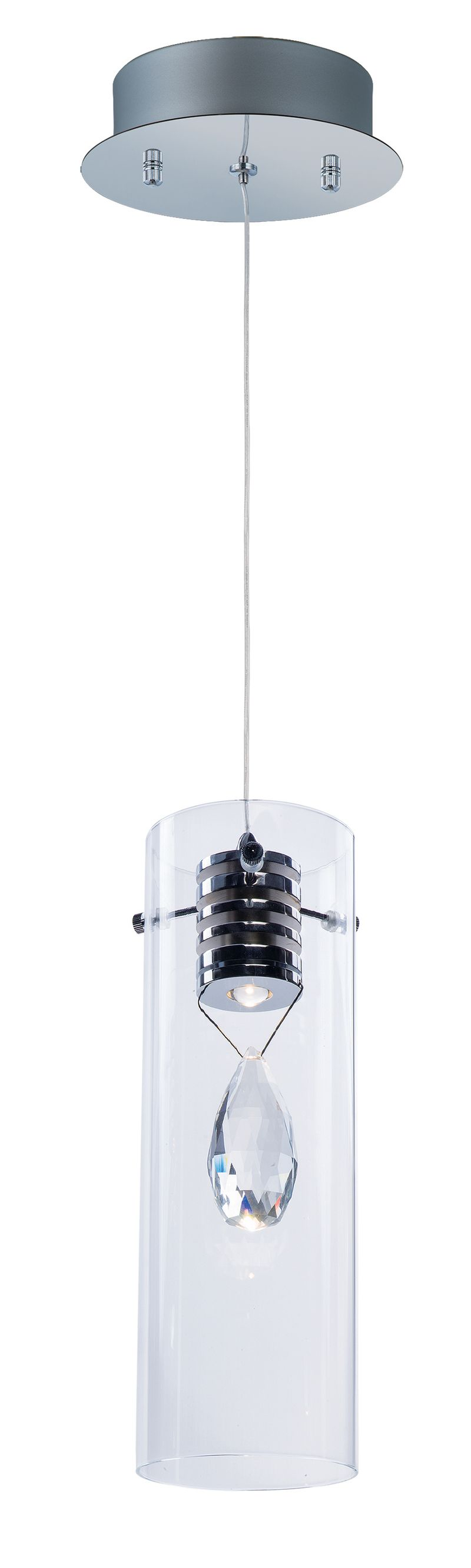 "Solitaire 4.25"" 1-Light Single Pendant - Polished Chrome"