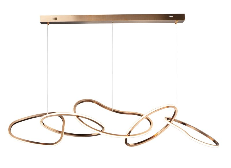 """Unity 55"""" 5-Light Linear Pendant - Brushed Champagne"""