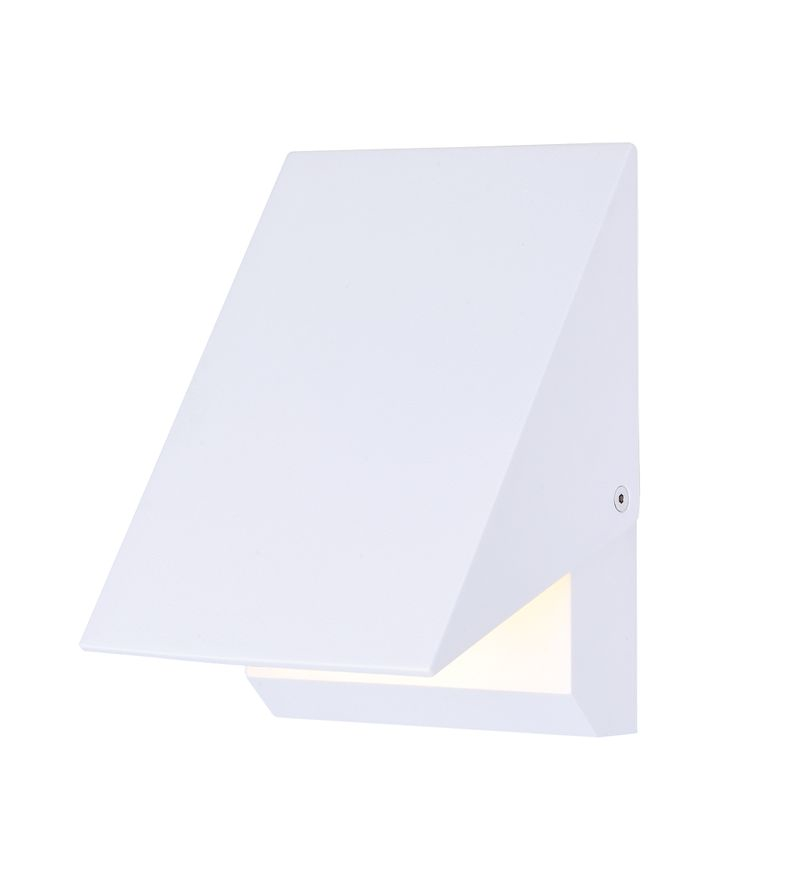 """Alumilux Sconce 5"""" 1-Light Outdoor Wall Mount - White"""