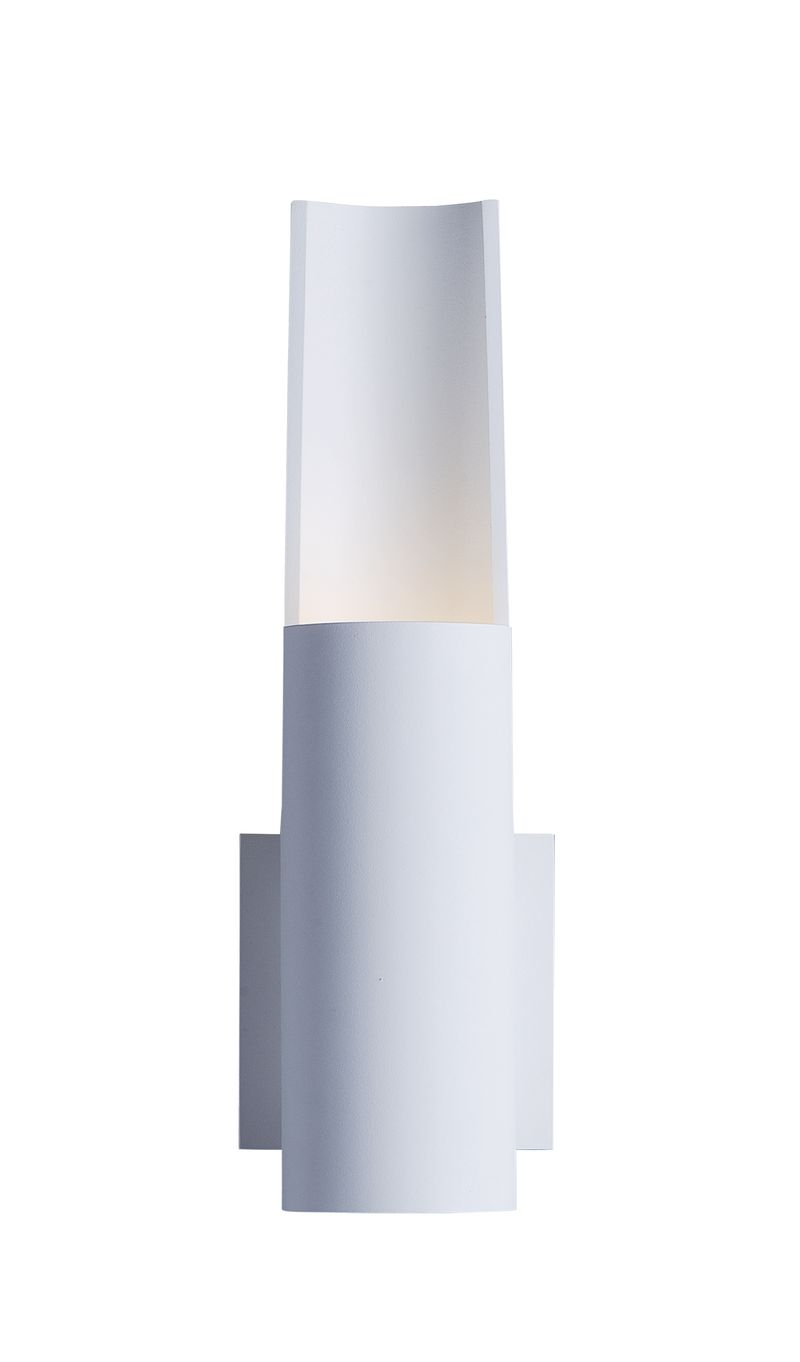 """Alumilux Sconce 4.25"""" 1-Light Outdoor Wall Mount - White"""