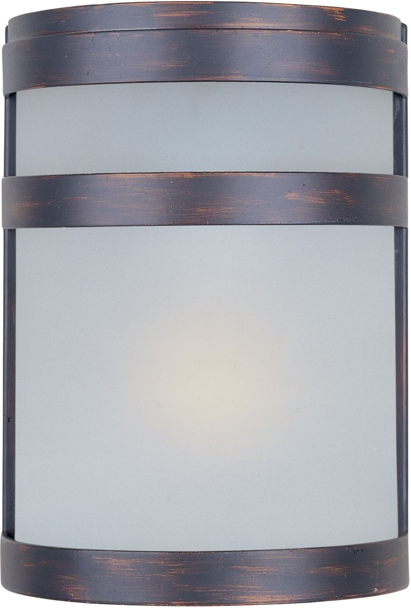"""Arc 6.5"""" 1-Light Outdoor Wall Mount - Oil Rubbed Bronze"""