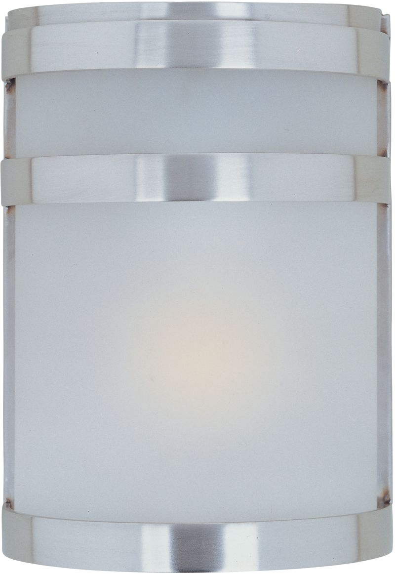 "Arc 6.5"" 1-Light Outdoor Wall Mount - Stainless Steel"