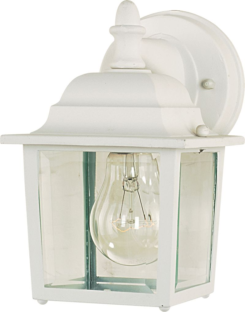 "Builder Cast 5.5"" 1-Light Outdoor Wall Mount - White"