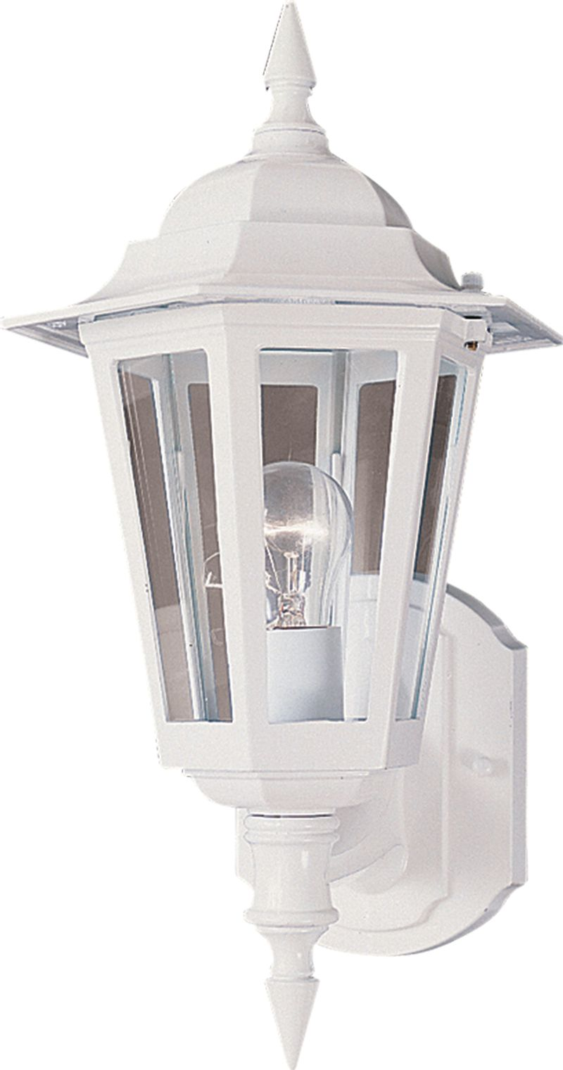 "Builder Cast 8"" 1-Light Outdoor Wall Mount - White"