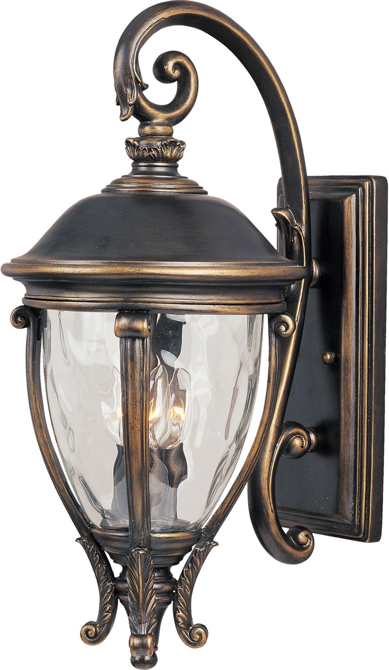 "Camden VX 11"" 3-Light Outdoor Wall Mount - Golden Bronze"