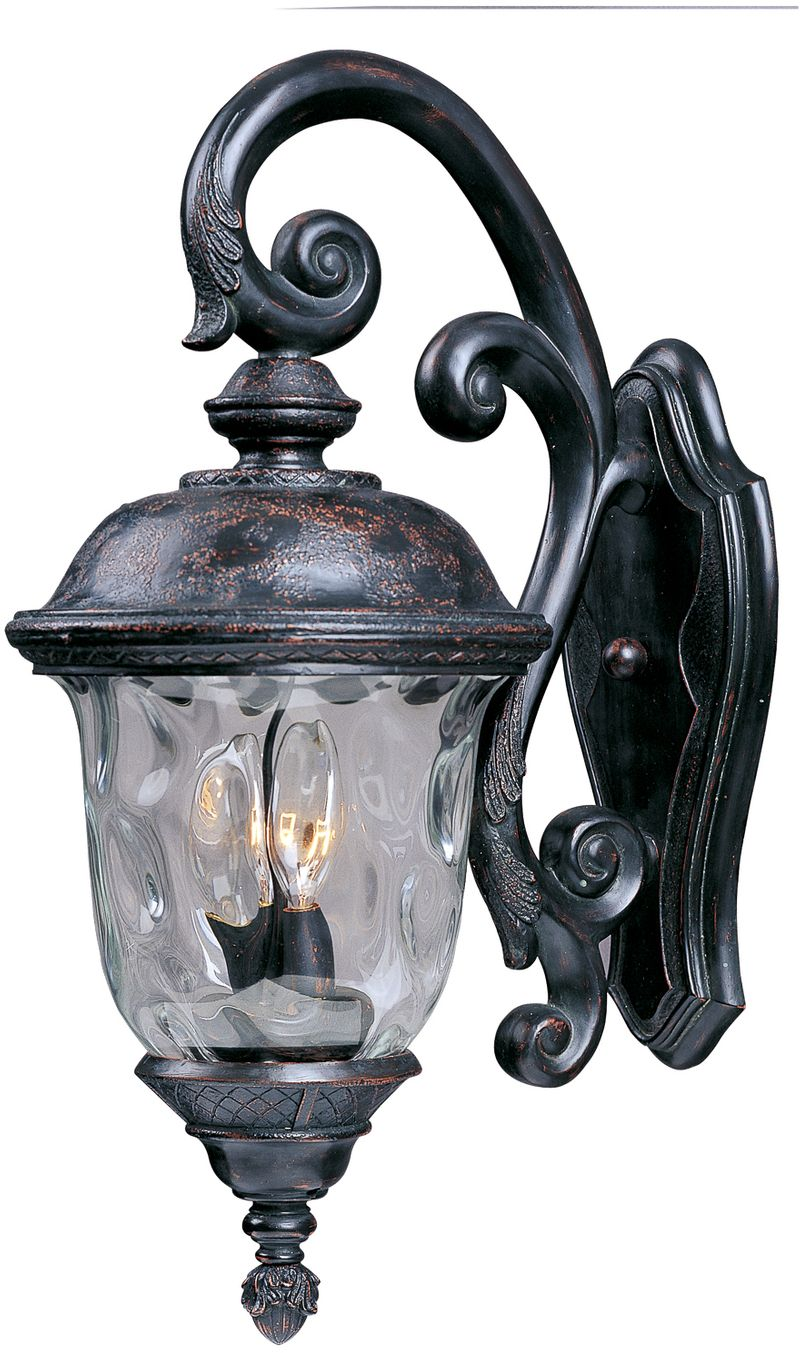 "Carriage House DC 12.5"" 3-Light Outdoor Wall Mount - Oriental Bronze"