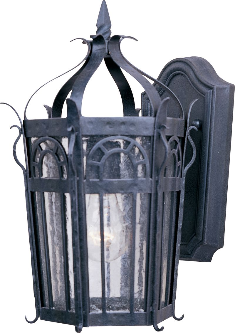 """Cathedral 8.75"""" 1-Light Outdoor Wall Mount - Country Forge"""