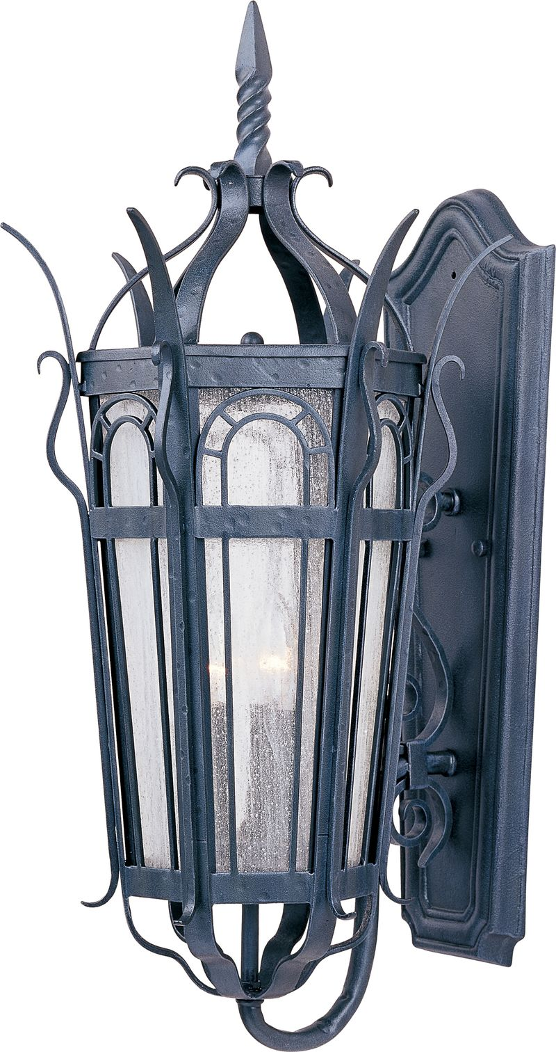 """Cathedral 13.5"""" 3-Light Outdoor Wall Mount - Country Forge"""
