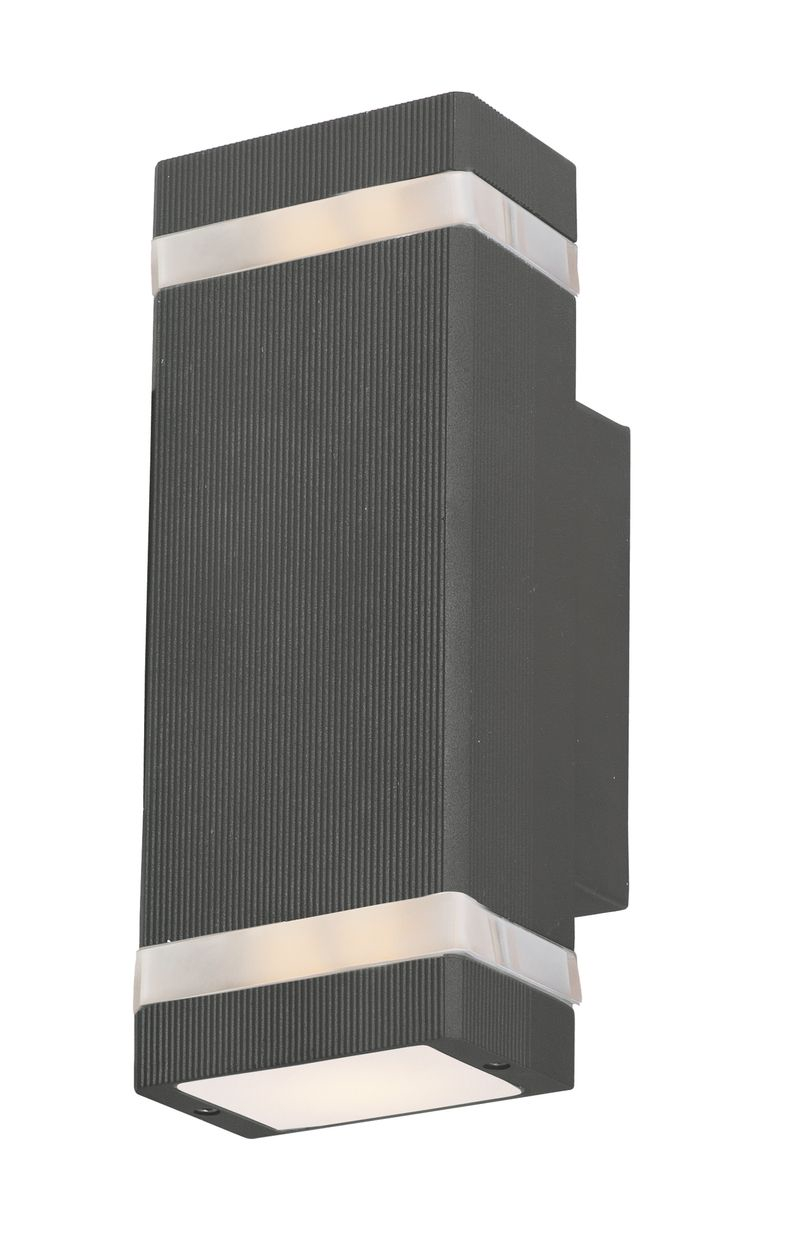 "Lightray 4.25"" 2-Light Outdoor Wall Mount - Architectural Bronze"