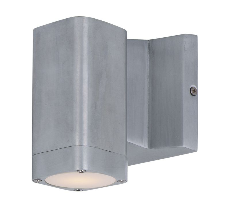 "Lightray 4"" 1-Light Outdoor Wall Mount - Brushed Aluminum"