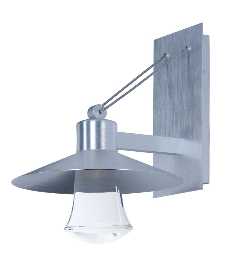 """Civic 14"""" 1-Light Outdoor Sconce - Brushed Aluminum"""