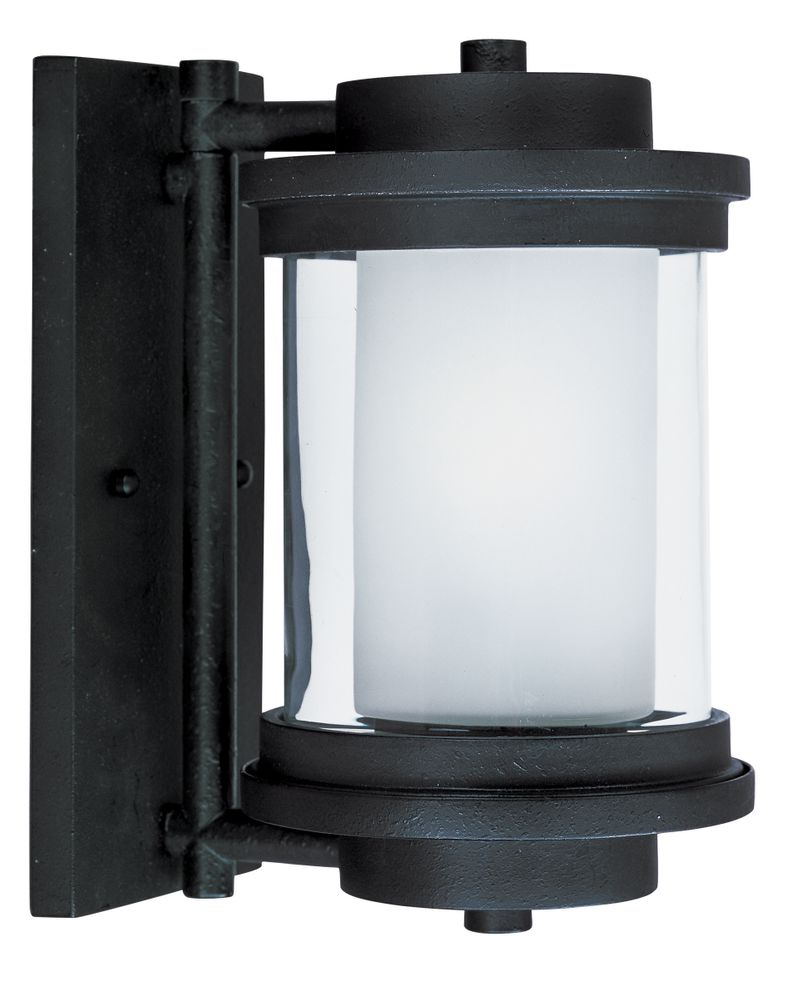 "Lighthouse E26 6"" 1-Light Outdoor Sconce - Anthracite"