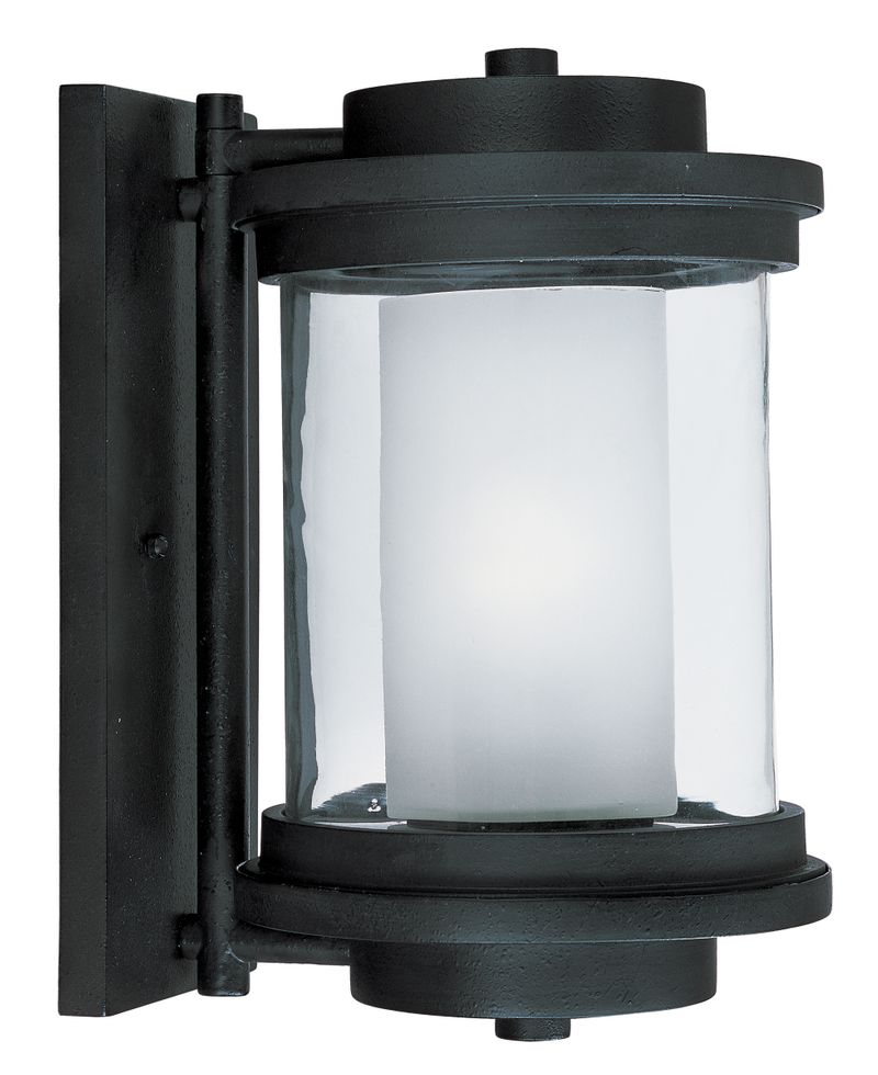"Lighthouse E26 8"" 1-Light Outdoor Sconce - Anthracite"