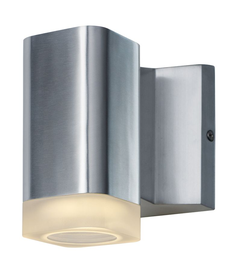 """Lightray 4.75"""" 1-Light Outdoor Sconce - Brushed Aluminum"""