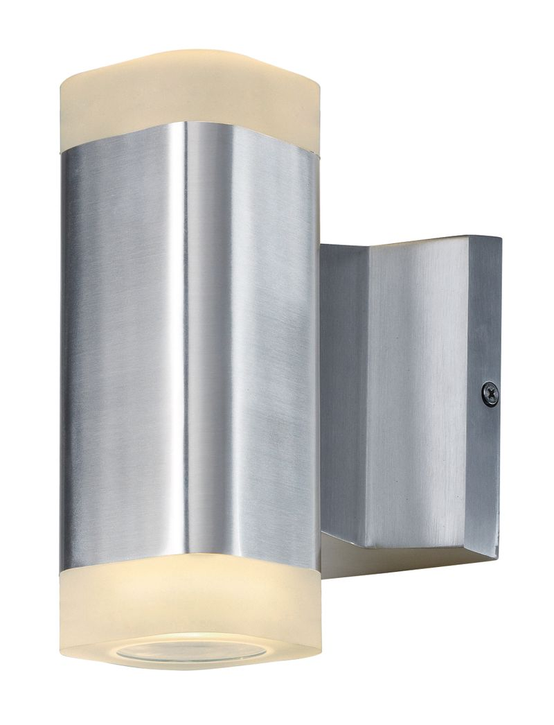 "Lightray 4"" 2-Light Outdoor Sconce - Brushed Aluminum"