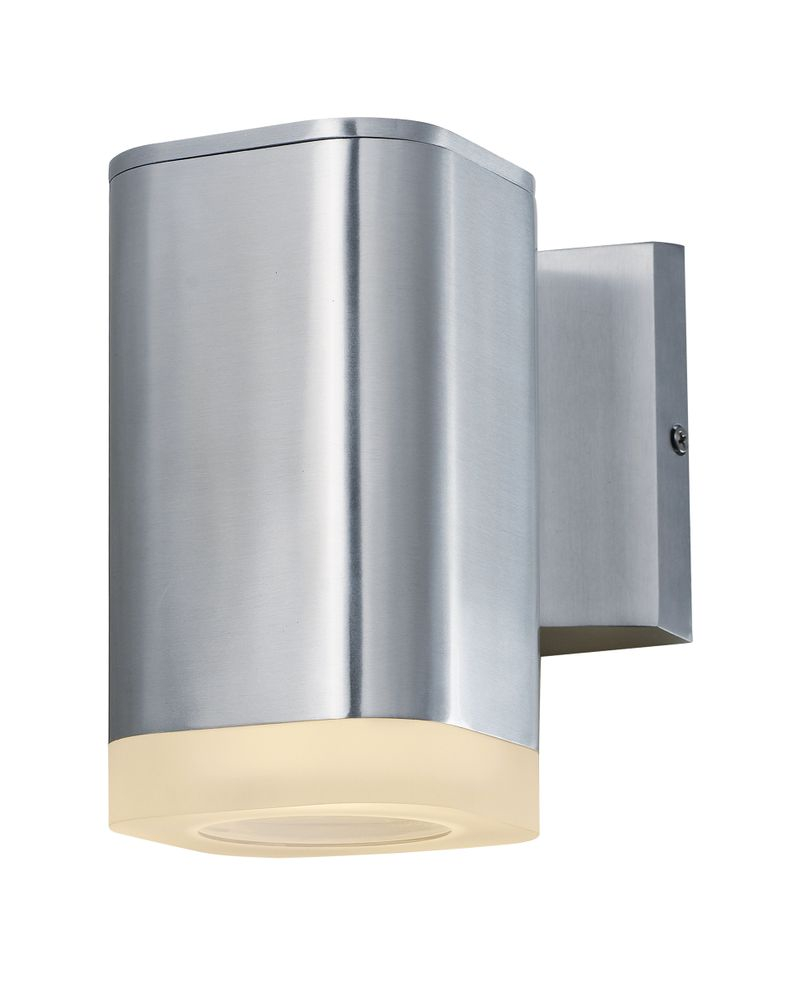 "Lightray 4.75"" 1-Light Outdoor Sconce - Brushed Aluminum"