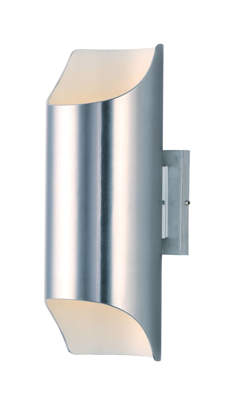 """Lightray 5.75"""" 2-Light Outdoor Sconce - Brushed Aluminum"""