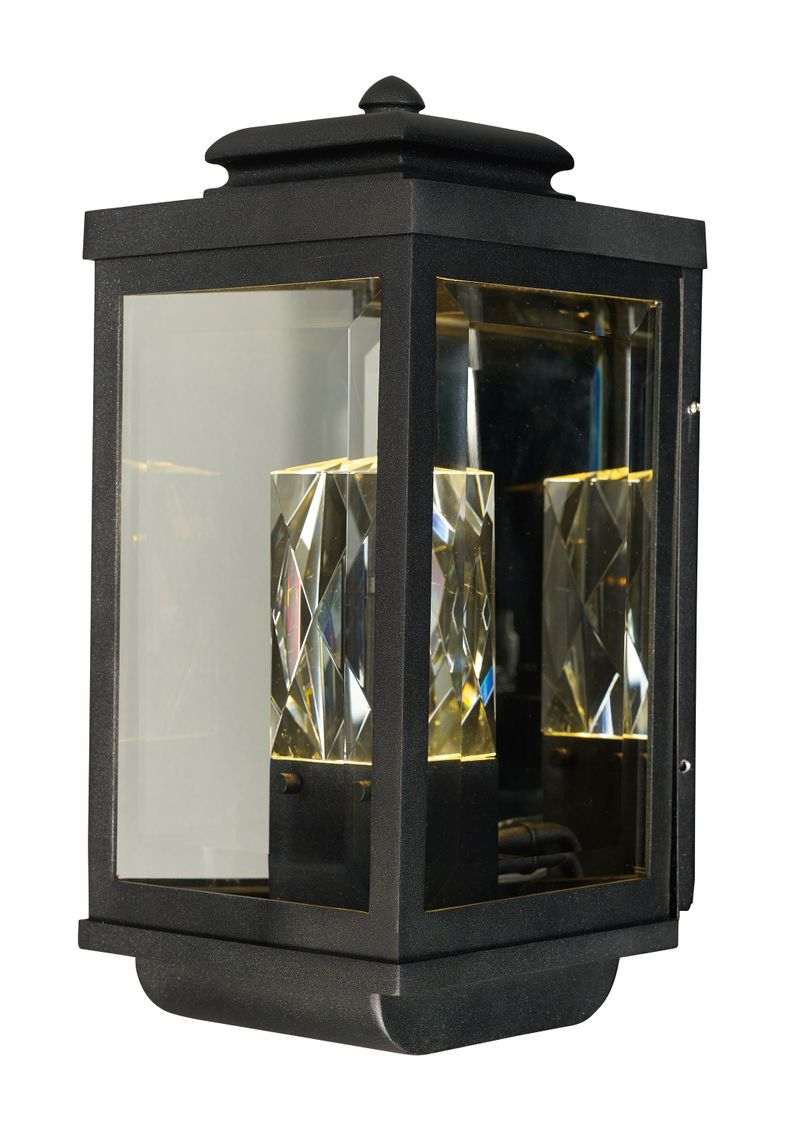 "Mandeville 7"" 2-Light Outdoor Sconce - Galaxy Black"