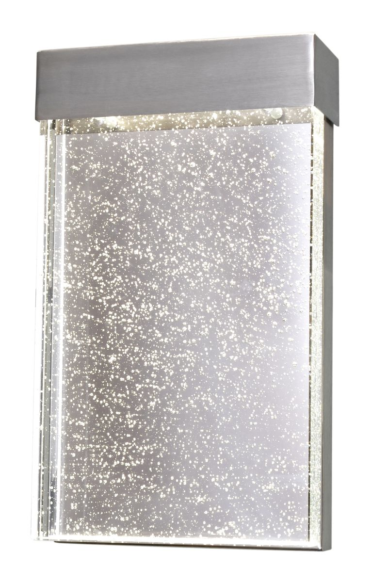 "Moda 7"" 1-Light Wall Sconce - Stainless Steel"