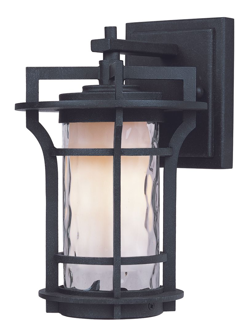 "Oakville E26 6.25"" 1-Light Outdoor Sconce - Black Oxide"