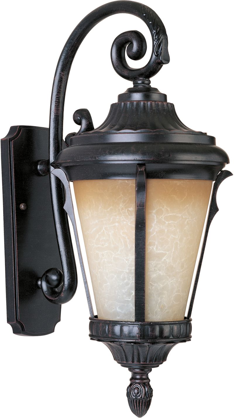 "Odessa E26 11.5"" 1-Light Outdoor Sconce - Espresso"