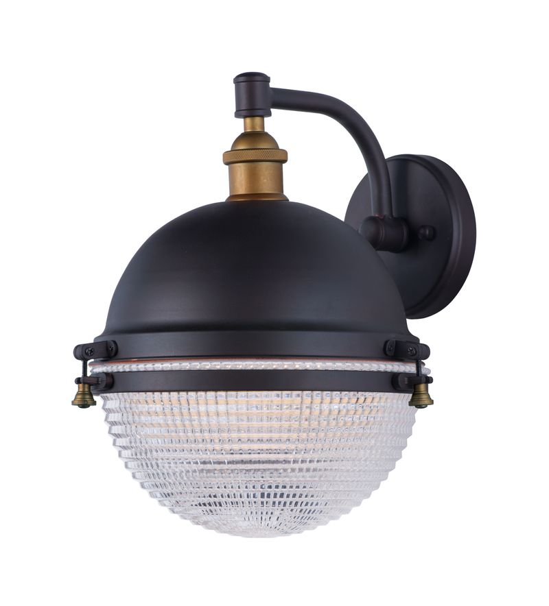 """Portside 11.75"""" 1-Light Wall Sconce - Oil Rubbed Bronze / Antique Brass"""