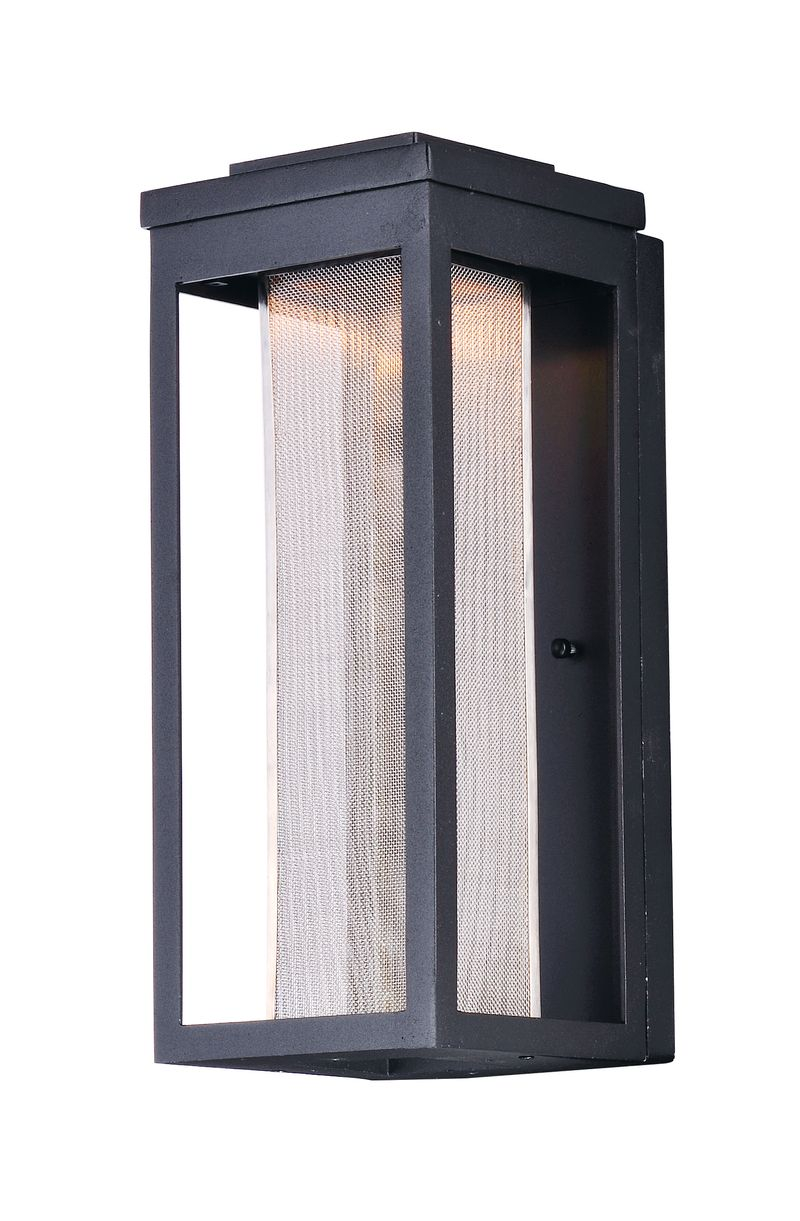 "Salon 6"" 1-Light Outdoor Sconce - Black"