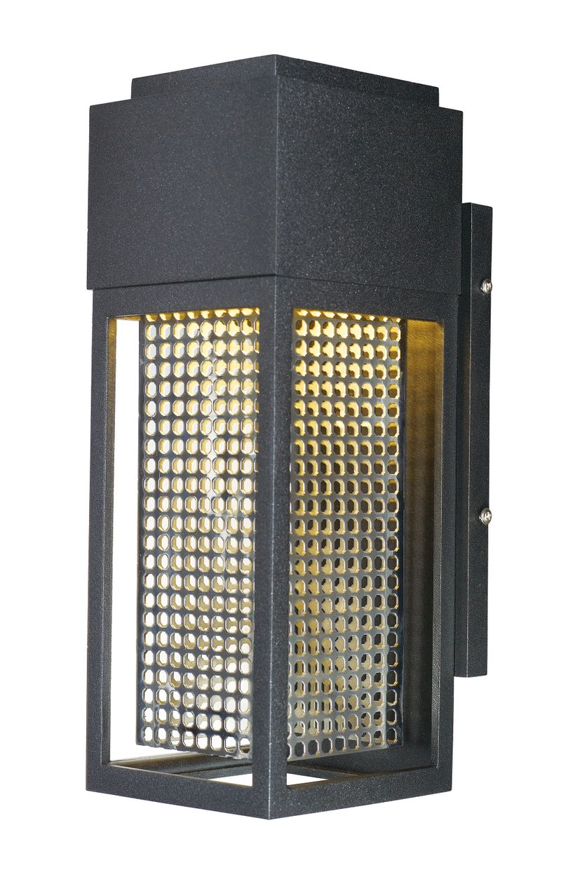 """Townhouse 4.75"""" 1-Light Outdoor Sconce - Galaxy Black / Stainless Steel"""