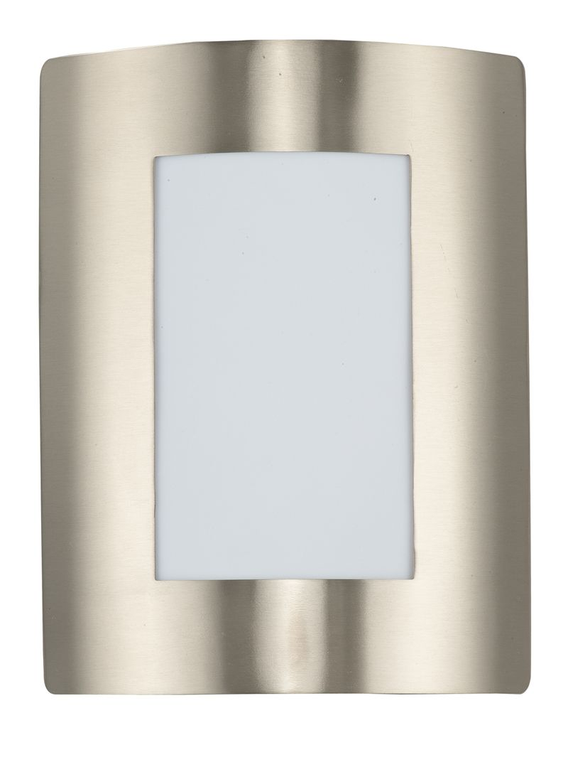 """View E26 8"""" 1-Light Outdoor Sconce - Stainless Steel"""