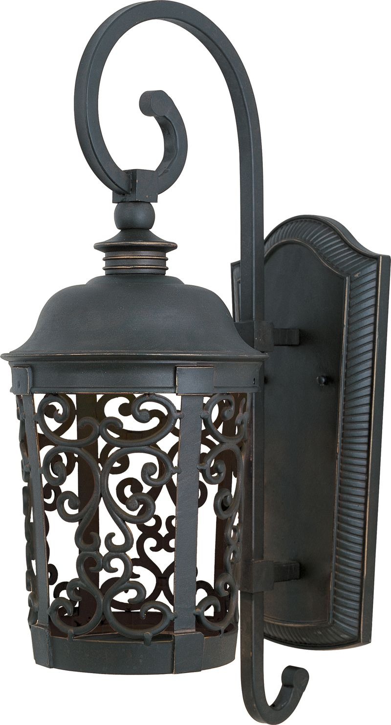 "Whisper Dark Sky 10"" 1-Light Outdoor Sconce - Bronze"