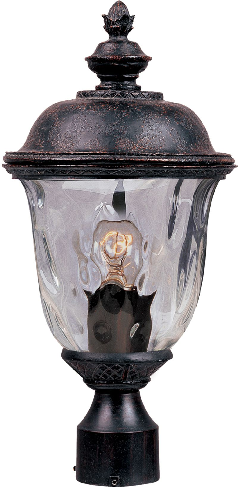 "Carriage House DC 9"" 1-Light Post Mount - Oriental Bronze"