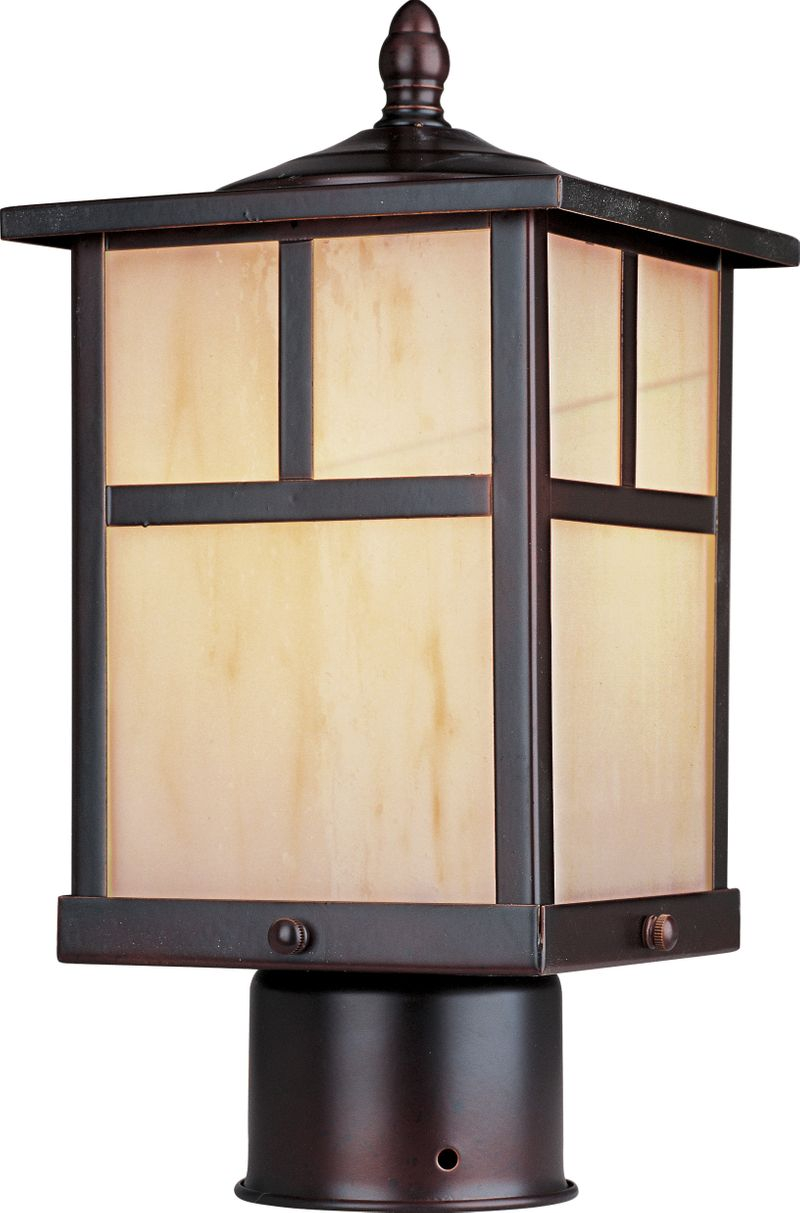 """Coldwater 6"""" 1-Light Post Mount - Burnished"""