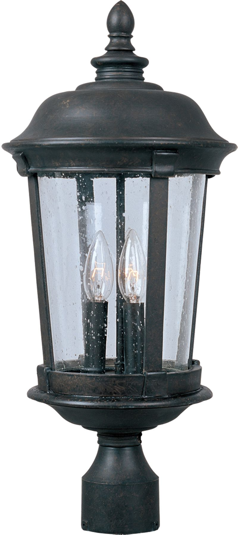 "Dover DC 10"" 3-Light Post Mount - Bronze"