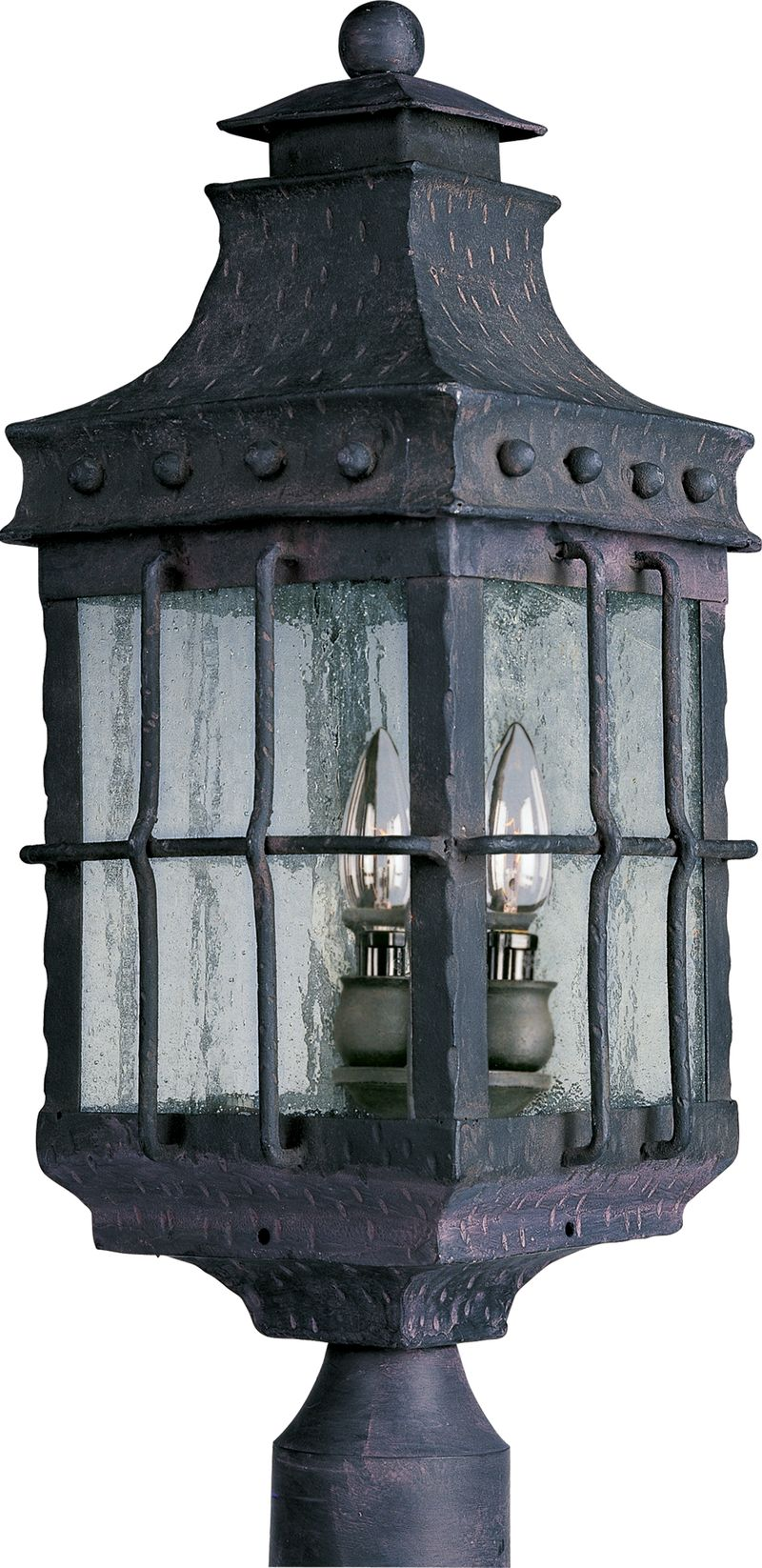 """Nantucket 8.5"""" 3-Light Post Mount - Country Forge"""