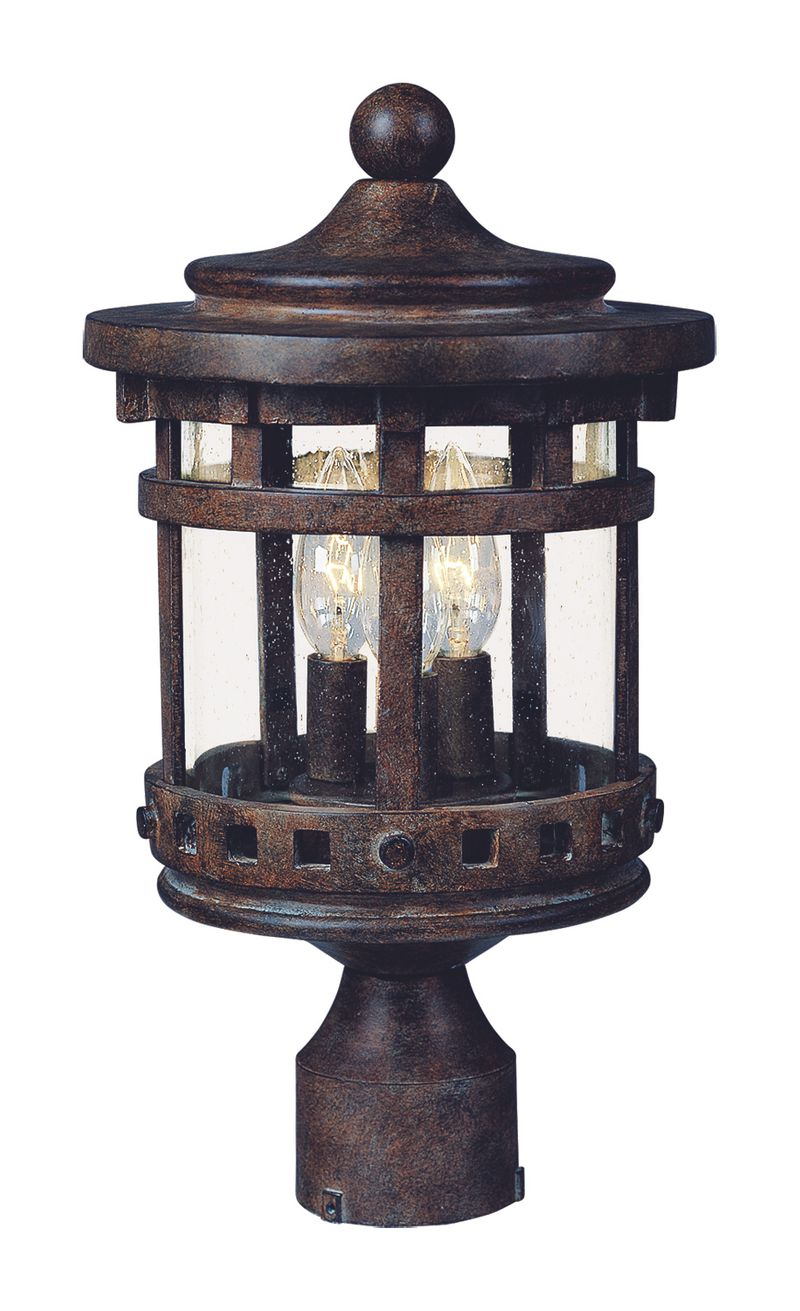 "Santa Barbara DC 11"" 3-Light Post Mount - Sienna"