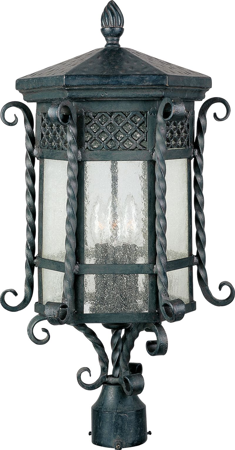 "Scottsdale 11"" 3-Light Post Mount - Country Forge"