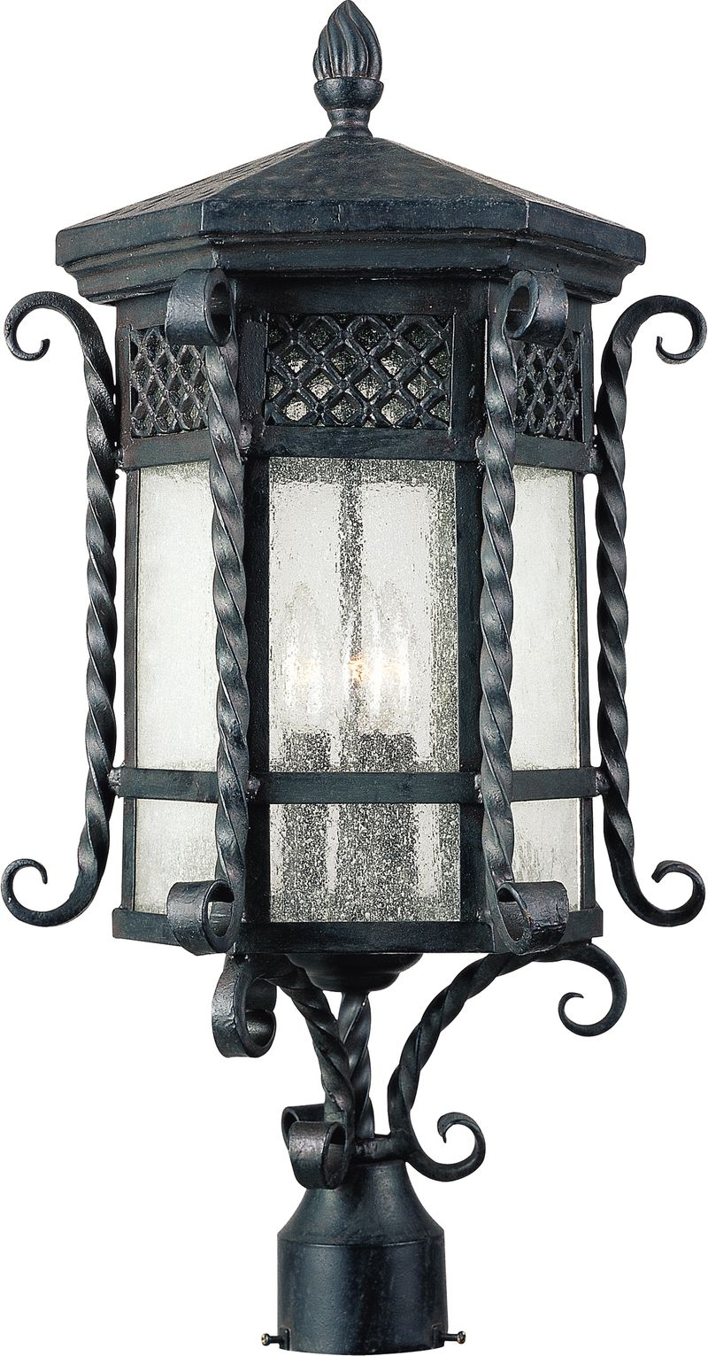 "Scottsdale 12.5"" 3-Light Post Mount - Country Forge"