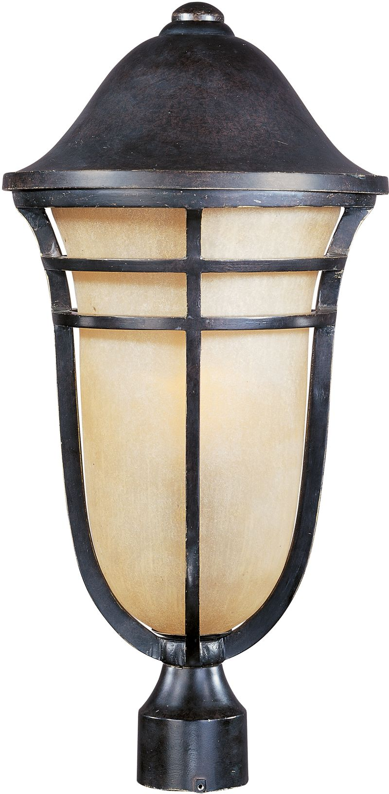 "Westport VX 11.25"" 1-Light Post Mount - Artesian Bronze"