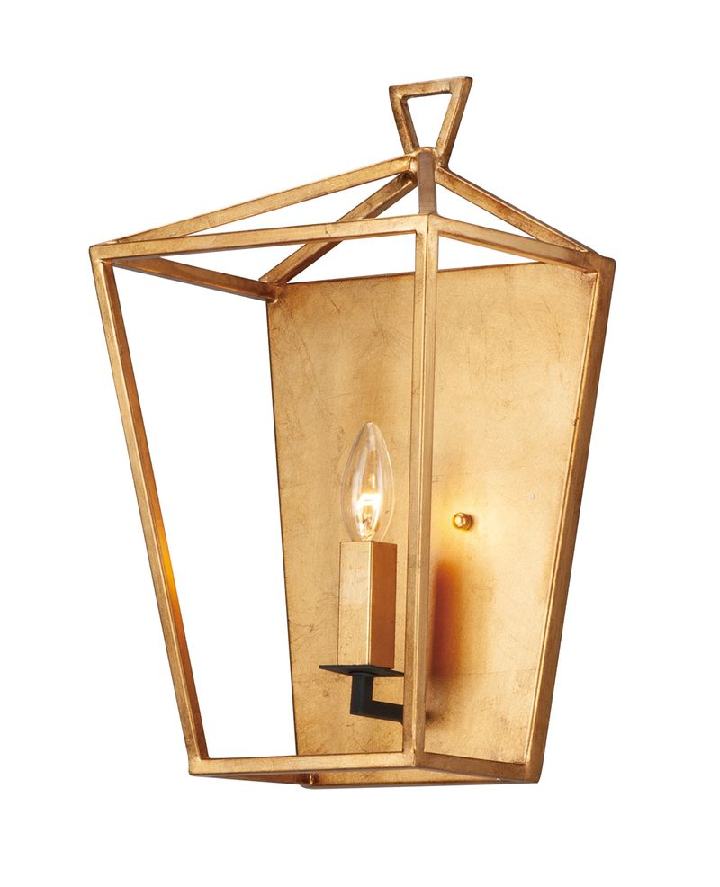Abode 1-Light Sconce - Gold Leaf / Textured Black
