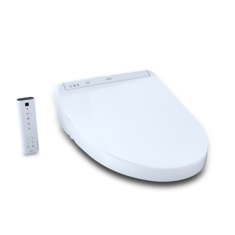 "Washlet+ K300 Elongated Soft-Close Electronic Bidet Toilet Seat - Cotton White (20.88"" x 5.19"" x 15.13"")"